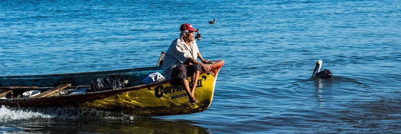 Fisherman in La Peñita photo by Dave Boroughs
